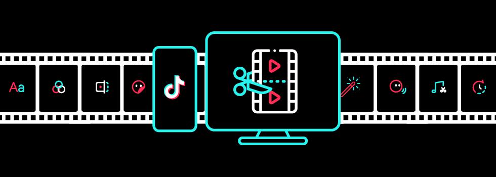 Нарисованный процесс монтажа на чёрном экране