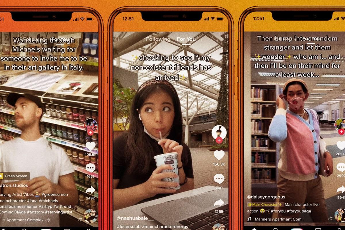Три скриншота с молодыми людьми из ТикТока